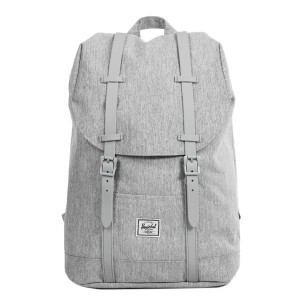 Herschel Sac à dos Retreat Mid-Volume light grey crosshatch/grey rubber vente