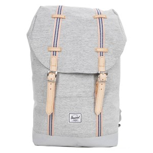 Herschel Sac à dos Retreat Mid-Volume Offset light grey crosshatch/high rise vente
