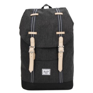Herschel Sac à dos Retreat Mid-Volume Offset black crosshatch/black vente