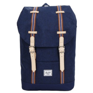 Herschel Sac à dos Retreat Mid-Volume Offset medieval blue crosshatch/medieval blue vente