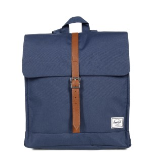 Herschel Sac à dos City Mid-Volume navy/tan vente
