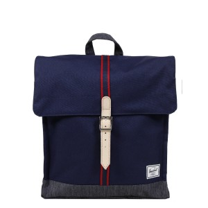 Herschel Sac à dos City Mid-Volume Offset peacoat/dark denim vente