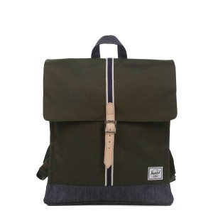 Black Friday 2020 | Herschel Sac à dos City Mid-Volume Offset forest night/ dark denim vente