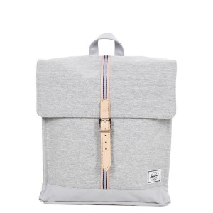 Herschel Sac à dos City Mid-Volume Offset light grey crosshatch/high rise vente