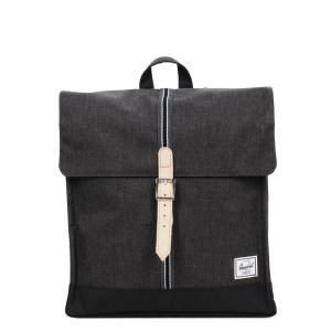 Herschel Sac à dos City Mid-Volume Offset black crosshatch/black vente