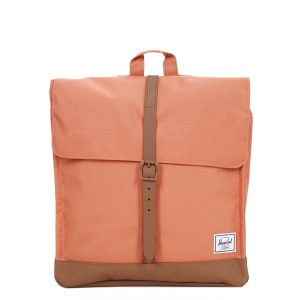 Herschel Sac à dos City Mid-Volume apricot brandy/saddle brown vente
