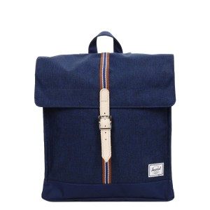 Herschel Sac à dos City Mid-Volume Offset medieval blue crosshatch/medieval blue vente