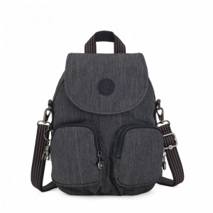 Black Friday 2020 | Kipling Small backpack (convertible to shoulderbag) Active Denim pas cher
