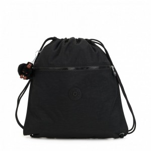 Vacances Noel 2019 | Kipling Grand Sac à Cordon True Black pas cher