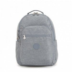 Kipling Large baby backpack (with changing mat) Cool Denim pas cher