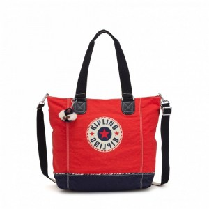 Black Friday 2020 | Kipling Grand Sac épaule Avec Bretelle Amovible Active Red Bl pas cher