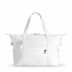 [Black Friday 2019] Kipling Sac Cabas Medium avec 2 Poches Frontales Lively White pas cher