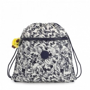 [Black Friday 2019] Kipling Grand Sac à Cordon Scribble Fun Bl pas cher