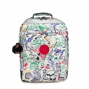 [Black Friday 2019] Kipling Grand Sac à Dos Avec Protection Pour Ordinateur Portable Doodle Play Bl pas cher