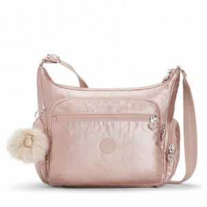Black Friday 2020 | Kipling Sac épaule Medium Avec Bretelle Ajustable Metallic Blush pas cher