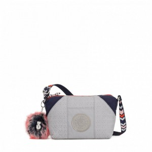 [Black Friday 2019] Kipling Petit sac à bandoulière New Grey Emb Bl pas cher