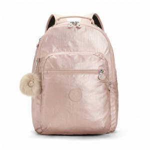 Black Friday 2020 | Kipling Grand Sac à Dos Avec Protection Pour Ordinateur Portable Metallic Blush pas cher