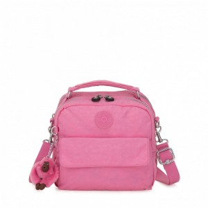 Vacances Noel 2019 | Kipling Small handbag (convertible to backpack) Posey Pink pas cher