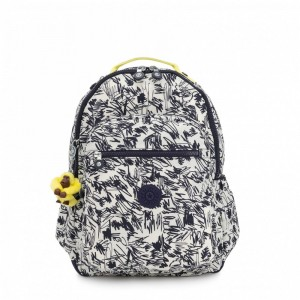 [Black Friday 2019] Kipling Grand Sac à Dos avec Protection pour Ordinateur Portable Scribble Fun Bl pas cher