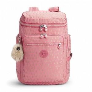 Kipling Grand Sac à Dos Pink Gold Drop pas cher