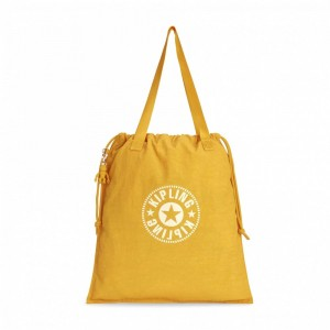 Vacances Noel 2019 | Kipling Sac Cabas Léger Lively Yellow pas cher