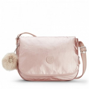 Black Friday 2020 | Kipling Sac à bandoulière moyen Metallic Blush pas cher