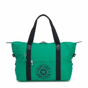 Vacances Noel 2019 | Kipling Sac Cabas Medium avec 2 Poches Frontales Lively Green pas cher