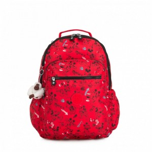 Black Friday 2020 | Kipling Grand sac à dos avec protection pour laptop Sketch Red pas cher