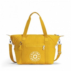 Kipling Sac Cabas avec Sangle Détachable Lively Yellow pas cher