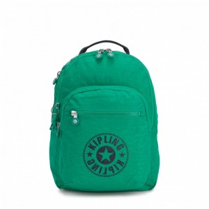 [Black Friday 2019] Kipling Sac à Dos Medium avec Compartiment pour Ordinateur Lively Green pas cher