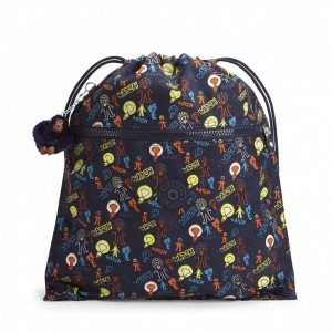 Vacances Noel 2019 | Kipling Grand Sac à Cordon Bright Light pas cher