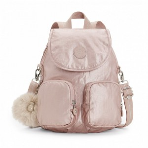 Black Friday 2020 | Kipling Petit sac à dos transformable en sac à bandoulière Metallic Blush pas cher