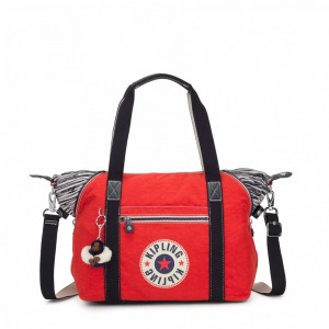 Kipling Sac à Main Active Red Bl pas cher
