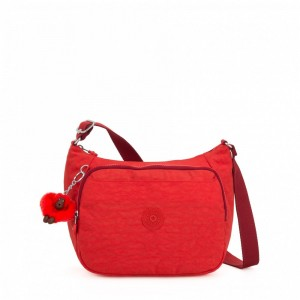 [Black Friday 2019] Kipling Sac à Main Imprimé avec Sangle Extensible Active Red pas cher