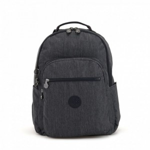 Vacances Noel 2019 | Kipling Large baby backpack (with changing mat) Active Denim pas cher