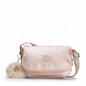 [Black Friday 2019] Kipling Petit sac à bandoulière Metallic Blush pas cher