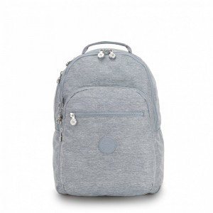 Black Friday 2020 | Kipling Large backpack (with laptop protection) Cool Denim pas cher
