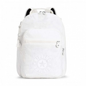 [Black Friday 2019] Kipling Sac à Dos Medium avec Compartiment pour Ordinateur Lively White pas cher