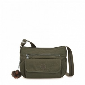 Black Friday 2020 | Kipling Sac à bandoulière moyen Jaded Green C pas cher
