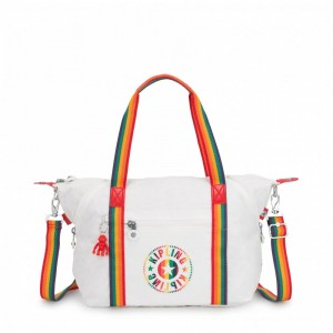Black Friday 2020 | Kipling Sac Cabas avec Sangle Détachable Rainbow White pas cher