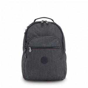 Vacances Noel 2019 | Kipling Large backpack (with laptop protection) Active Denim pas cher