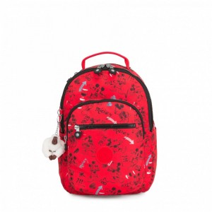 Black Friday 2020 | Kipling Petit sac à dos avec protection pour tablette Sketch Red pas cher