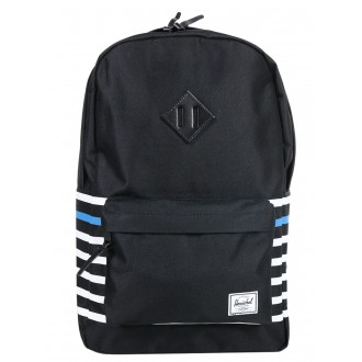 Vacances Noel 2019 | Herschel Sac à dos Heritage Offset black offset stripe/black veggie tan leather vente