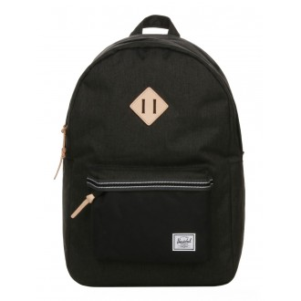 Vacances Noel 2019 | Herschel Sac à dos Heritage Offset black crosshatch/black vente