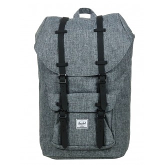 Herschel Sac à dos Little America raven crosshatch/black rubber vente