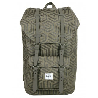Herschel Sac à dos Little America metric/black rubber vente