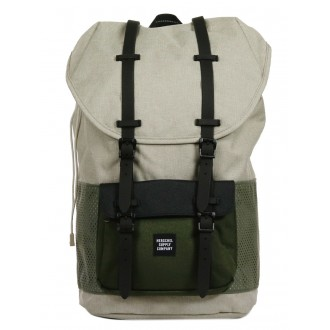 Herschel Sac à dos Little America Aspect light khaki crosshatch/forest night/black rubber vente