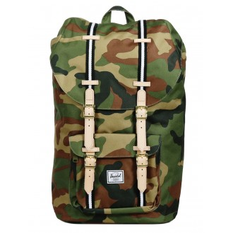 Vacances Noel 2019 | Herschel Sac à dos Little America Offset woodland camo/black/white vente