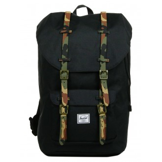 Black Friday 2020 | Herschel Sac à dos Little America black/woodland camo rubber vente