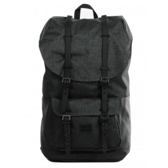 Vacances Noel 2019 | Herschel Sac à dos Little America Aspect black crosshatch/black/white vente